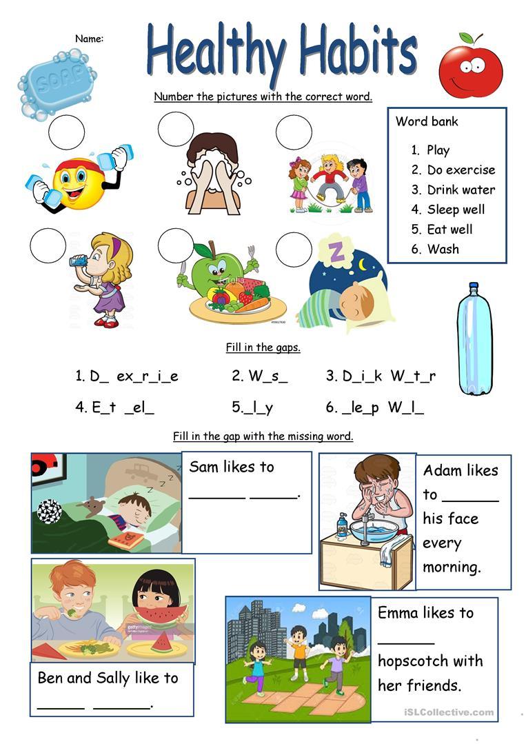 1-1, healthy-habits-worksheet-information-gap-activities_107082_1